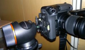 Fotoaparát na výšku s bateriový gripem BG-E5